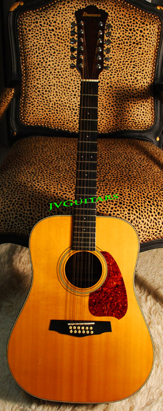 1986 Ibanez  V302 12 string Acoustic Natural Sprice top WoW... $499.00