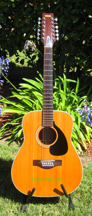 74 Yamaha Red Label FG230 12 string Acoustic beautiful 40 year old vintage guitar and sounds SWEET! ... $539