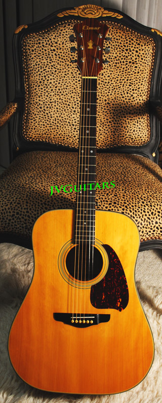 Vintage 1982  Ibanez Factory D-300  made in Japan Hishino Gakki made Labled Cimar  Dreadnought acoustic guitar  Super nice woods WoW.. and its in Mint Condition ...$485.00