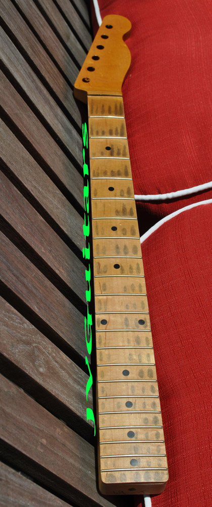 JVG Luthier Built Vintage Aged Tele Neck RELIC 21 Fret Old School Style 100